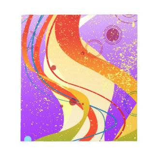 Jazz Fleck Background Notepad