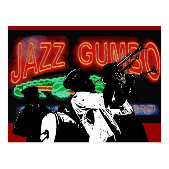 Jazz Gumbo Brass Band Postcard