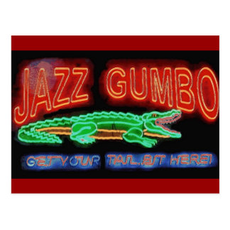 Jazz Gumbo Postcard
