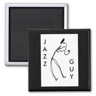 Jazz Guy Square Magnet