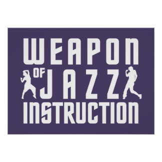 Jazz Instruction custom color poster