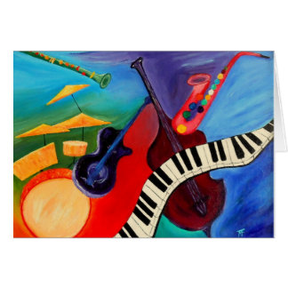 Jazz It Abstract Greetingcard Card