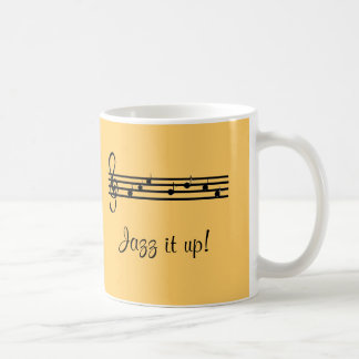 Jazz it Up Musical Design Coffee Mug
