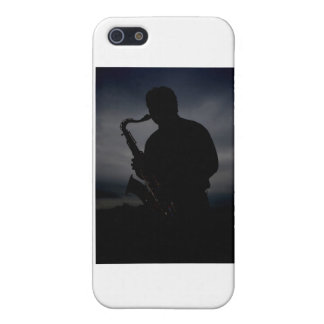 JAZZ IT UP! sax player silhouette to add some TUDE iPhone 5 Cover
