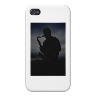 JAZZ IT UP! sax player silhouette to add some TUDE iPhone 4/4S Covers