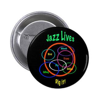 Jazz Lives 2 Inch Round Button
