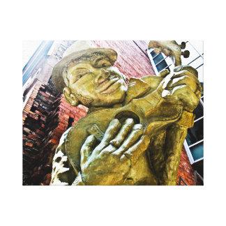 Jazz Man Resting Canvas Print