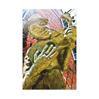 Jazz Man Statue Canvas Print