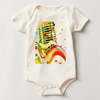 Jazz Microphone Poster Baby Bodysuit