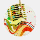 Jazz Microphone Poster Ceramic Ornament
