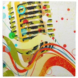 Jazz Microphone Poster Cloth Napkins