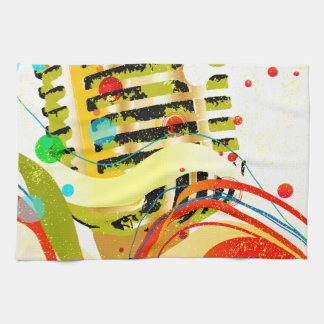 Jazz Microphone Poster Hand Towels