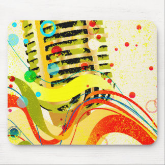 Jazz Microphone Poster Mouse Pad