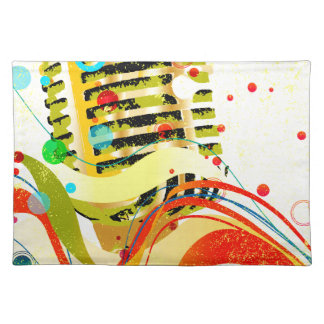Jazz Microphone Poster Placemats