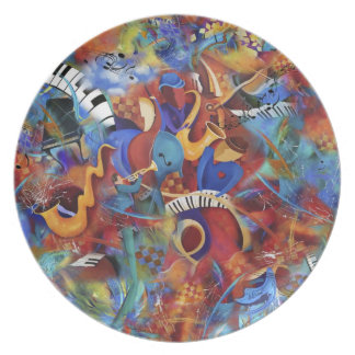 Jazz Music Band Dinner Plate