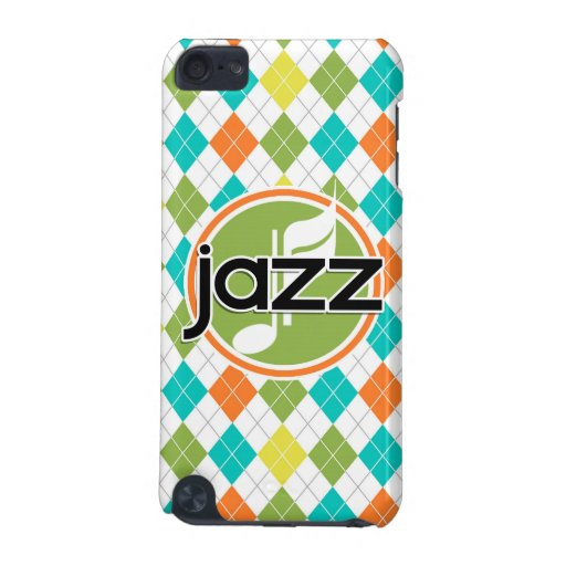 Jazz Music; Colorful Argyle Pattern iPod Touch (5th Generation) Cover