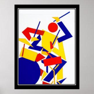 Jazz Music festival Art Deco Vintage Poster