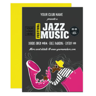 Jazz invitations announcements zazzle ca jazz music festival invitation stopboris Choice Image