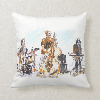 Jazz music group throw pillow