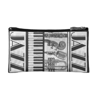 Jazz Music Instruments Cosmetic Bag