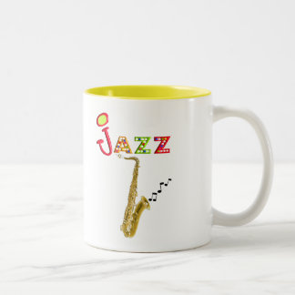 Jazz Music Lovers Gifts Two-Tone Coffee Mug