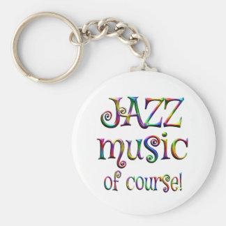 Jazz Music of Course Basic Round Button Keychain
