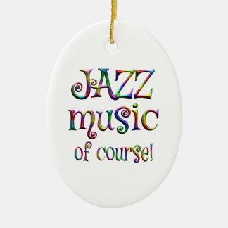 Jazz Music of Course Ceramic Ornament