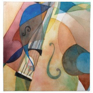 "Jazz Music Painting ""Bassline"" Cloth Napkins"