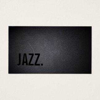 Jazz Music Teacher Modern Bold Black Minimal Business Card