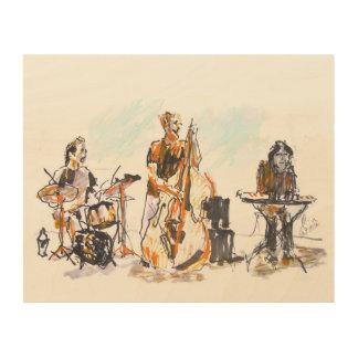 Jazz music trio wood wall decor