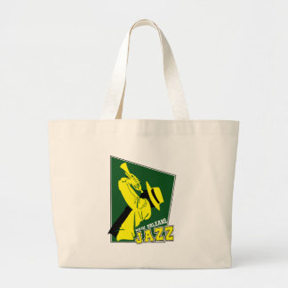 jazz new Orleans Large Tote Bag