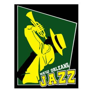 jazz new Orleans Postcard