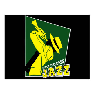 jazz new Orleans Postcard