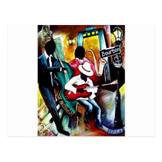 Jazz on Bourbon St..jpg Postcard