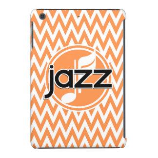 Jazz; Orange and White Chevron iPad Mini Covers