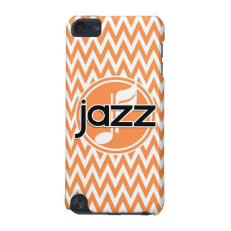 Jazz; Orange and White Chevron iPod Touch 5G Cover