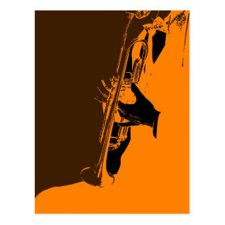 Jazz Orange Postcard