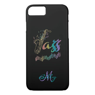 Jazz Personalized Rainbow Sax Music iPhone 7 Case