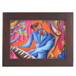 Jazz pianist keepsake box