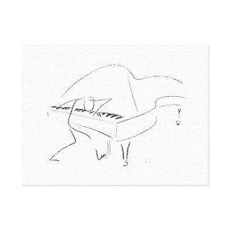 Jazz Piano Canvas Print