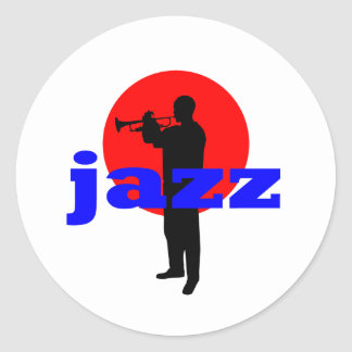 Jazz Player Classic Round Sticker