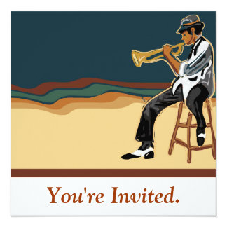Jazz Player Invitation Card
