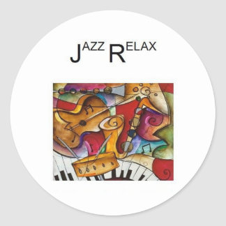 Jazz Relax Products Classic Round Sticker