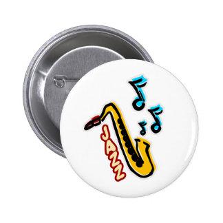 Jazz Sax 2 Inch Round Button