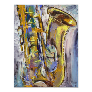 Jazz Sax Invitation