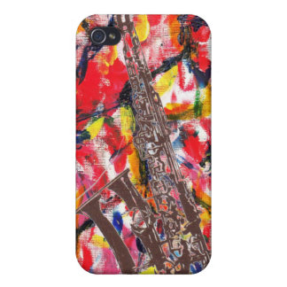 Jazz Saxophone Abstract Cases For iPhone 4