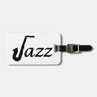 Jazz Saxophone Luggage Tag