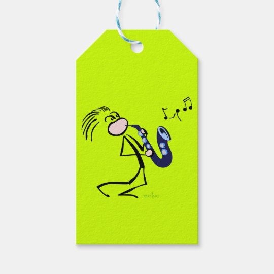 Jazz saxophonists gift tags