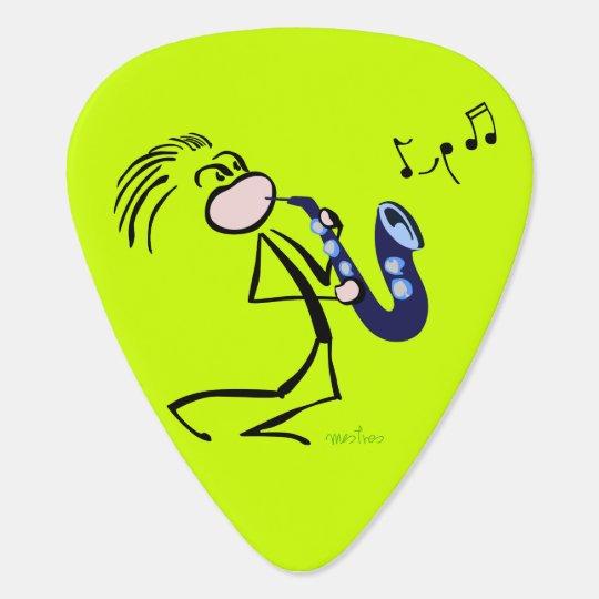 Jazz saxophonists guitar pick