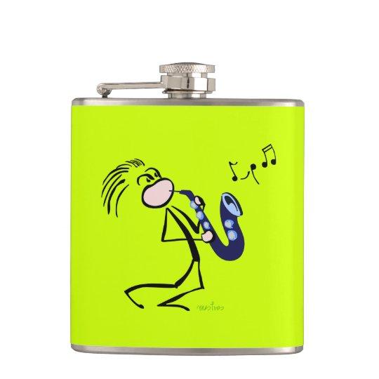 Jazz saxophonists hip flask